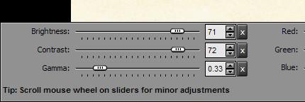 pas2 - Setari ajustare luminozitate şi contrast.