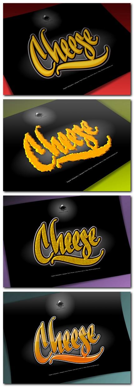 Cheese - Branza - caligrafie de Florin Florea (serie de prezentari)