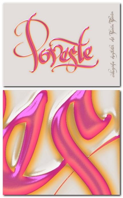 Poveste - caligrafie digitala de Florin Florea