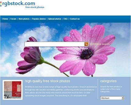 RGBStock homepage