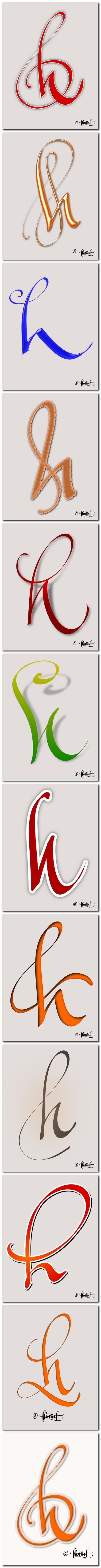 12 variante litera h - create de Florin Florea (vertical)