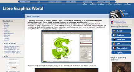 Lucrarea lui florinf pe Libre Graphics World