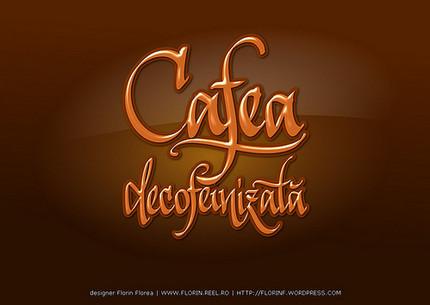 Cafea decofeinizata - lucrarea lui Florin Florea pe Libre Graphics World
