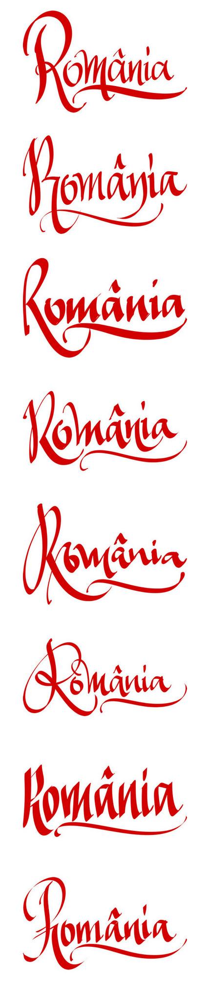 România - schiţe de caligrafie - Florin Florea