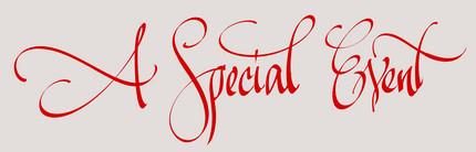 eveniment special - caligrafie de Florin Florea