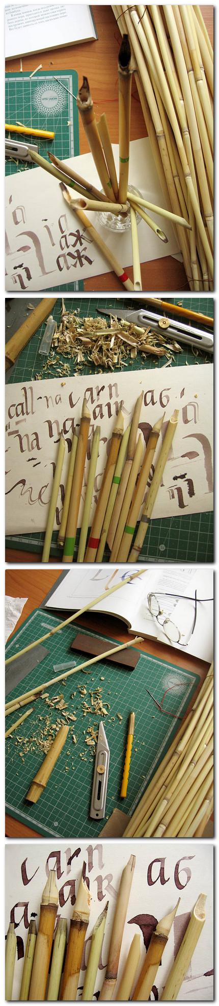 Bete pentru caligrafie (trestie sau bambus) Marina Marjina