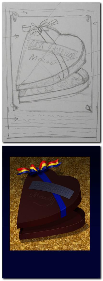 Comparaţie între schiţa primită şi imaginea realizată