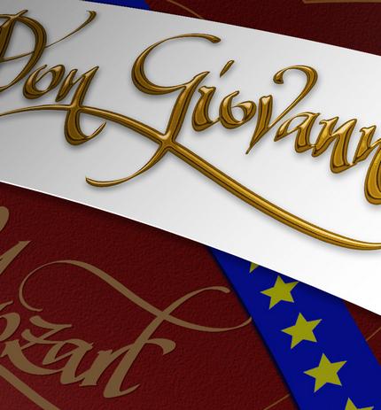 Detaliu din compoziţia pentru afişul Don Giovanni după schiţa scenografei