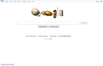 Google - aniversare Brancusi (pagina web)