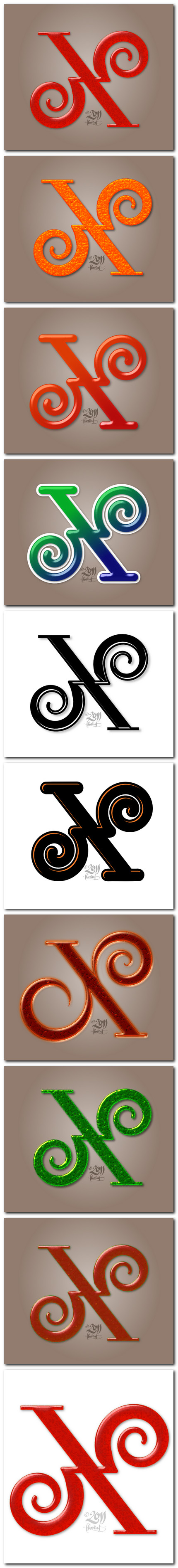 lettercult X de Florea Florin - variatii color