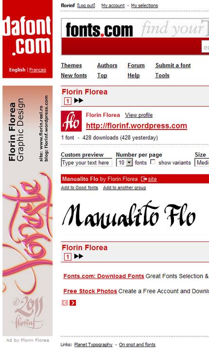 Florin Florea pe dafont