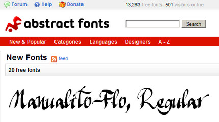Manualito-Flo pe Abstract Fonts