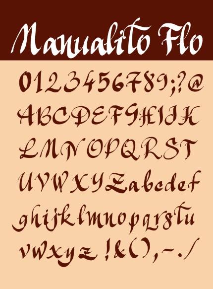 Manualito-Flo - font gratuit creat de Florin Florea (florinf)