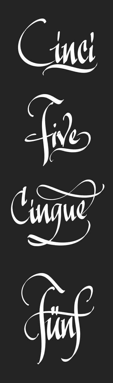 Cinci-uri scrise