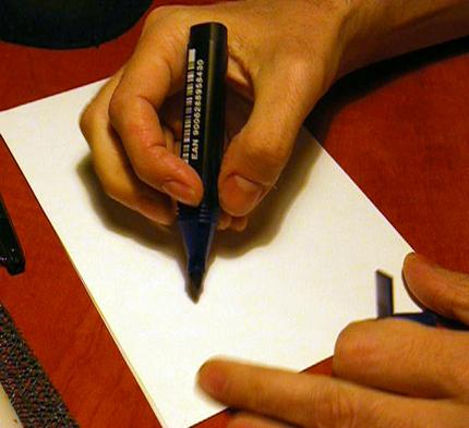 exercitii de caligrafie cu marker lat