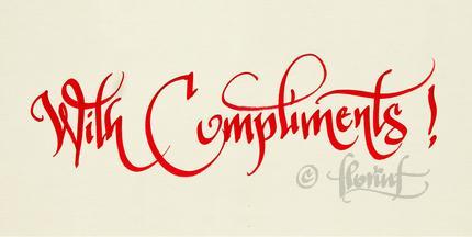 With compliments - Florin Florea