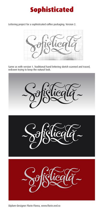 Sofisticata lettering de Florin Florea